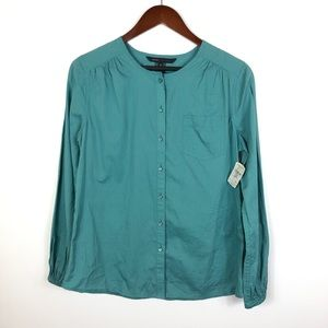 Marc Jacobs Muted Aqua Button Front Blouse NEW